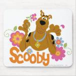 Scooby en flores alfombrilla de raton