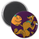 Scooby Halloween 07 2 Inch Round Magnet