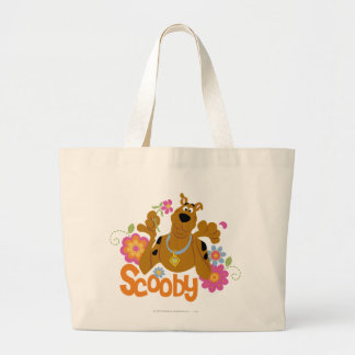 Scooby in Flowers Tote Bag