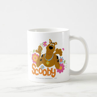 Scooby in Flowers Coffee Mug