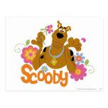 Scooby in Flowers Postcard