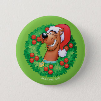 Scooby in Wreath Pinback Button