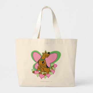 Scooby Pretty Butterfly Scooby Large Tote Bag