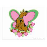 Scooby Pretty Butterfly Scooby Postcard