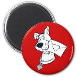 Scooby Valentine's Day 02 2 Inch Round Magnet