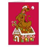 Scooby y casa de pan de jengibre felicitacion