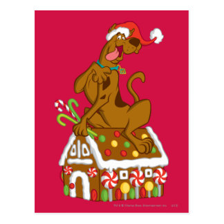 Scooby y casa de pan de jengibre tarjetas postales