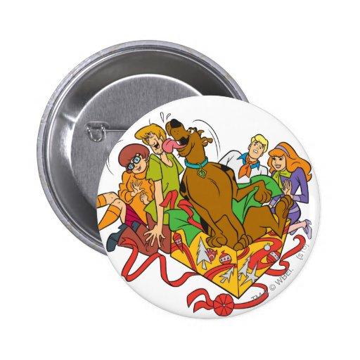 Scooby y navidad 01 de la cuadrilla pin redondo 5 cm