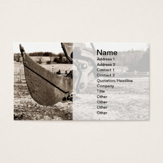 scoop for backhoe business card