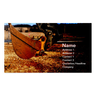scoop for backhoe Double-Sided standard business cards (Pack of 100)