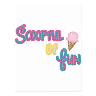 Scoop Full Of Fun Moose Postcard