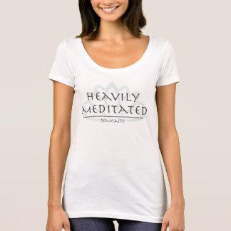 "Scoop Neck Tee ""Heavily Meditated"""