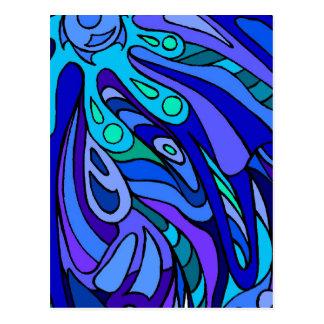 Scoop of Zen Blue Postcards