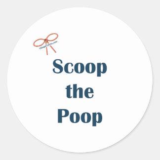 Scoop The Poop Reminders Classic Round Sticker
