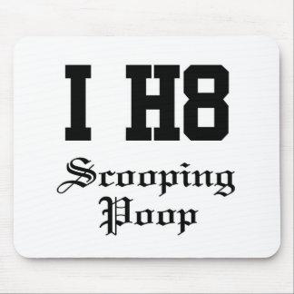scooping poop mouse pad