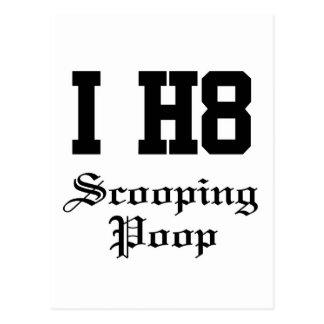 scooping poop post card