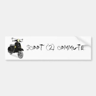 Scoot 2 commute car bumper sticker