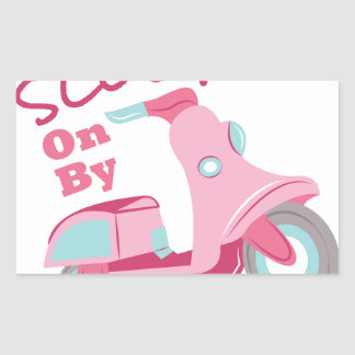 Scoot On By Rectangular Sticker