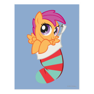 Scootaloo in Christmas Stalking Postcard