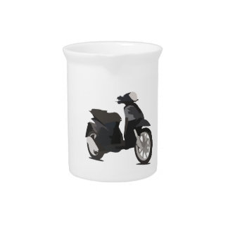 Scooter Art Beverage Pitchers