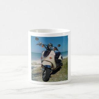 Scooter  beach mod coffee mug