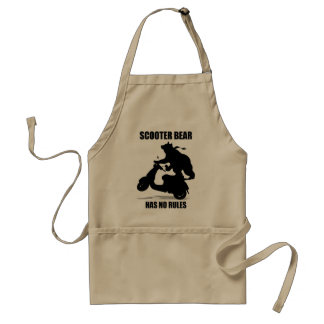 Scooter Bear Adult Apron
