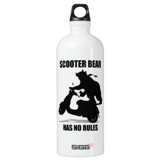 Scooter Bear Aluminum Water Bottle