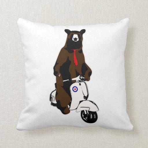 Scooter Bear Pillows