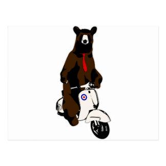 Scooter Bear Postcard
