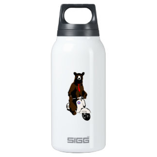 Scooter Bear Thermos Water Bottle