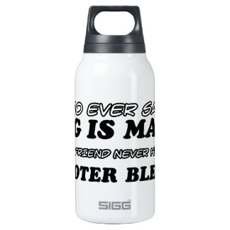 Scooter Blenny  pet designs Insulated Water Bottle