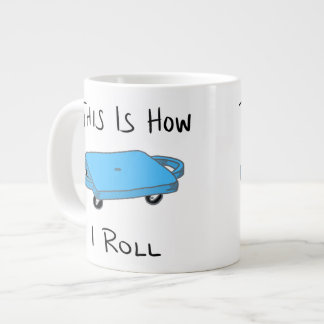 "Scooter Board ""This is How I Roll"" - Blue Large Coffee Mug"