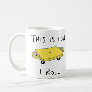 "Scooter Board ""This is How I Roll"" - Yellow Coffee Mug"