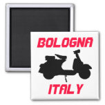 Scooter, Bologna, Italy 2 Inch Square Magnet