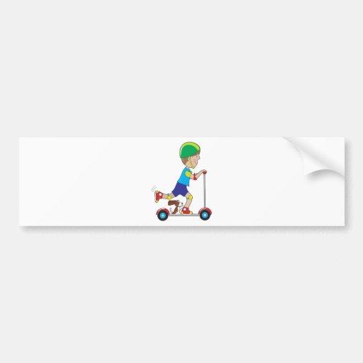 Scooter Boy Bumper Sticker