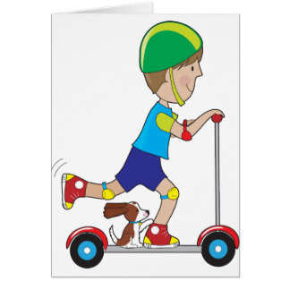 Scooter Boy Greeting Cards
