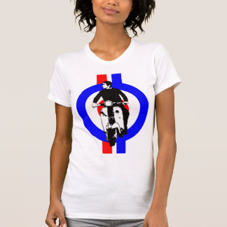 Scooter Boy on  target and stripes Tee Shirt