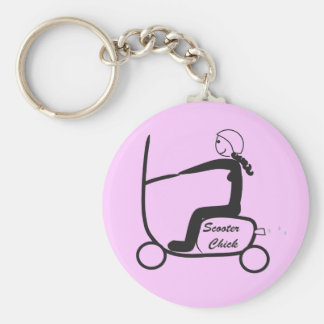 scooter chick keychain