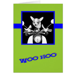 Scooter Chihuahua Stationery Note Card