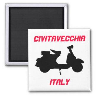 Scooter, Civitavecchia, Italy 2 Inch Square Magnet
