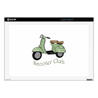 """Scooter Club 17"""" Laptop Skin"""
