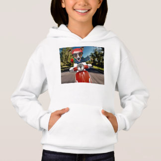 Scooter dog ,jack russell hoodie