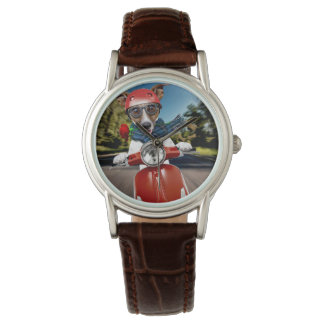 Scooter dog ,jack russell wrist watch