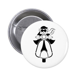 Scooter Girl 2 Inch Round Button