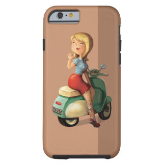 Scooter Girl Tough iPhone 6 Case