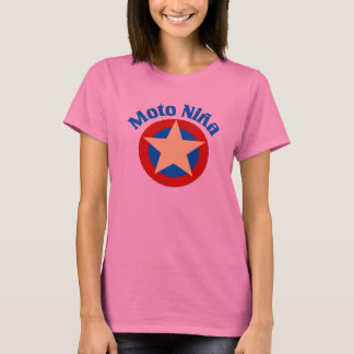 Scooter Girl In Spanish T-Shirt
