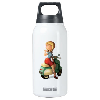 Scooter Girl Insulated Water Bottle
