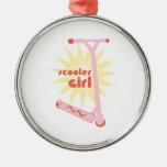 Scooter Girl Metal Ornament