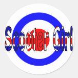 Scooter Girl Mod target Sticker