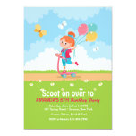 Scooter Girl Party Invitation